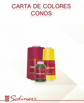 Carta de colores Mini King Spools y Conos